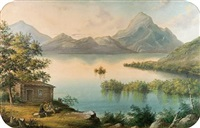 the owl's head, lake memphramagog by alfred worsley holdstock