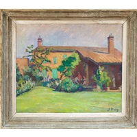 maison dans le campagne; untitled (recto-verso) by jean puy