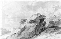 a mountainous landscape by pieter dircksz van santvoort
