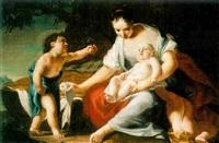 the holy family with saint john by giovanni antonio zaddei
