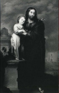 saint joseph and the christ child by miguel alonso de tovar
