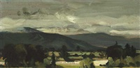 wicklow hills from russborough by derek hill