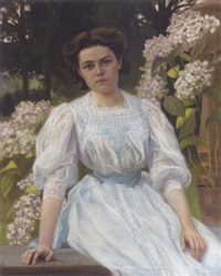 portrait of a young girl by v. poiarkov