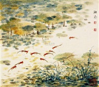鱼乐(二) by huang xiangling