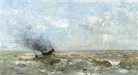 berck sur mer, vue du large by louis artan de saint-martin