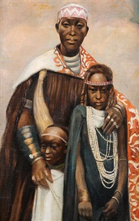 portrait of mwambutsa, last king of burundi by rene lesuisse
