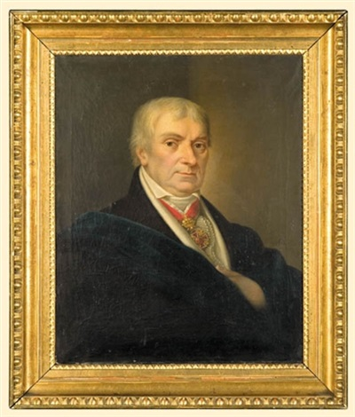male portrait with the leopold decoration by karl gottlieb schweikart