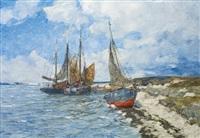 bateaux de pêche amarrés by andreas dirks