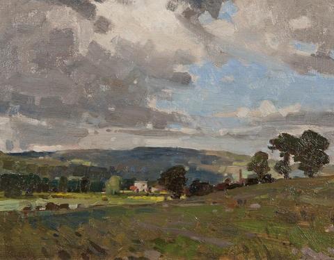 landscape derbyshire by leonard russel squirrell