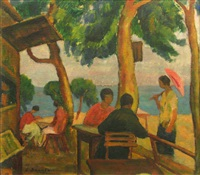 mahmud's café in balcic by constantin bacalu