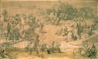 la battaglia di ponte milvio (study) by francesco coghetti