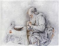 vieillard disant le bénédicité by jacques-andré portail