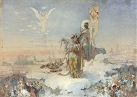 the coronation of alexander iii by mikhail mikishichin