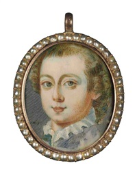 portrait miniature of frederick calvert, 6th baron baltimore by john smibert