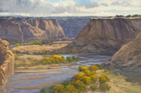 fall in canyon de chelly by tom lockhart