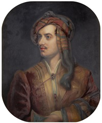 portrait of lord byron in albanian dress by john lewis reilly