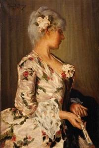 portrait d'une élégante by edouard bisson