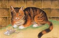 le chat et la souris by georges manzana-pissarro