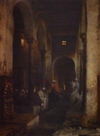 scène animée dans les souks de tunis by heinrich leinweber