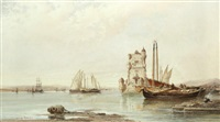 'The mouth of the Tagus, Lisbon', 1881
