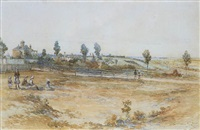 view of melbourne from sweet william, brunswick by george rossi ashton