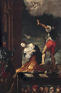 das martyrium der heiligen margherita by lodovico carracci