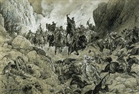 a scene from the russo-turkish war by czeslaw boris jankowski
