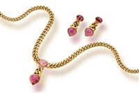 a necklace and pair of earclips (set of 2) by bulgari