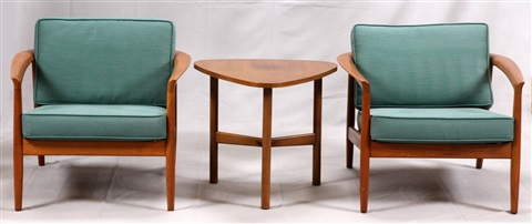Tremendous Danish Mid Century Modern Lounge Chairs Lamp Table By Dux Gmtry Best Dining Table And Chair Ideas Images Gmtryco
