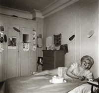 transvestite at her birthday party by diane arbus