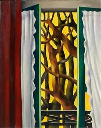 les branches sur fond jaune by georges bauquier
