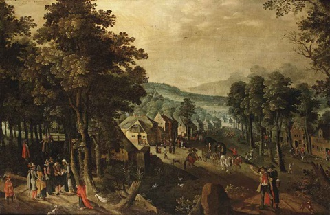 a village kermesse on st. george's day by tobias verhaecht