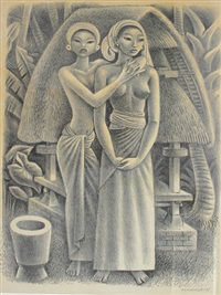 rice granary, bali by miguel covarrubias