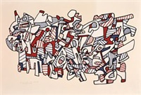 masse aux pedales by jean dubuffet