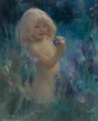 petite fille à la grenouille by georges picard