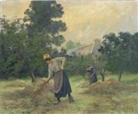 fenaison en bretagne by eugène labitte