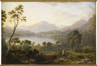 loch vennacher (+ loch earn; pair) by john fleming