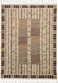 salerno grå kristianstad rug, designed, executed 1951 by barbro nilsson