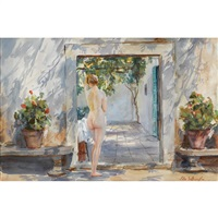 summer (the courtyard) by john whorf