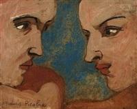 deux têtes de profil by francis picabia