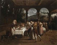 un banquet de fiancailles a naples by jacques sablet