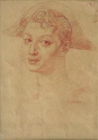 portrait de femme by romain kramstyk