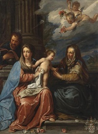 the holy family with saint anne by jan erasmus quellinus