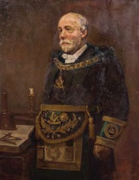 portrait of r.w. bro. james gore by alfred h. o'keefe