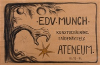 exhibition poster - edvard munch by hugo simberg