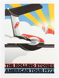 the rolling stones american tour 1972(+ the rolling stones european tour 1970; 2 works) by john pasche