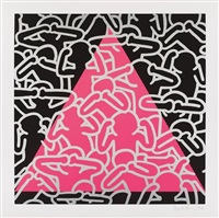 silence + death by keith haring