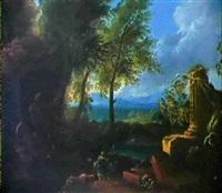 arkadische landschaft by johannes gottlieb glauber