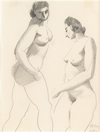 double nude by milton avery