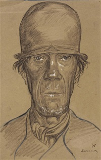 portrait of a farmer, possibly from zeeland by hendrik johannes haverman